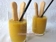 Gyümölcsös smoothie piskótával