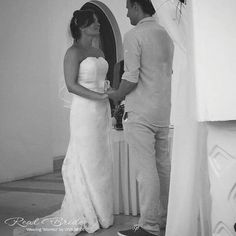 Stunning real bride Allie looks radiant in 'Montez' by Viva Bride Could this chic lace style be your dream dress? www.wed2b.co.uk