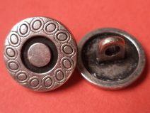 10 Metallknöpfe silber 13mm (4782-4) Knöpfe Metall