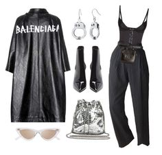 """Untitled #646"" by mimiih ❤ liked on Polyvore featuring Balenciaga, STELLA McCARTNEY, Le Specs, Agent Provocateur, Chanel and Yves Saint Laurent"