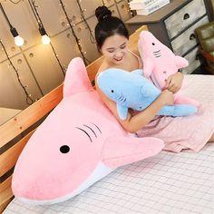 Kawaii Pastel Jumbo Shark Plush (90cm) - Special Edition - KawaiiTherapy Kawaii Bunny, Kawaii Plush, Shark Plush, Plush Animals, Cute Gifts, Corgi, Pastel, Beautiful Gifts, Felt Stuffed Animals