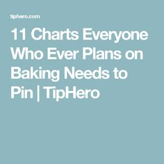 Bakers and Pinterest-lovers are usually one in the same - we can't blame you, there are amazing baking resources to pin! Including these amazing baking charts.