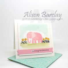 Gothdove Designs - Alison Barclay Stampin' Up! ® Australia : Stampin' Up! Australia - Stampin' Up! Baby card