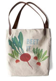 just beet it! i'm not normally a tote person, but i'm loving this.