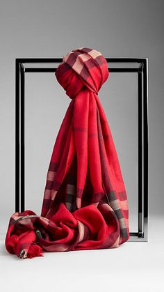 """Burberry: Check Wool Silk Scarf I don't have to lose weight to wear this item, but it would serve as a """"treat"""" for losing all of the weight! :-)"""