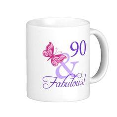 90 And Fabulous Birthday Mug