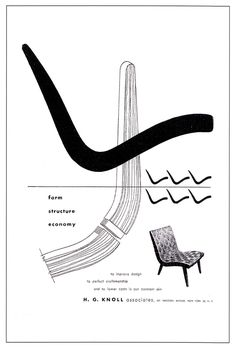 Knoll adverts by Alvin Lustig- | Furniture posters