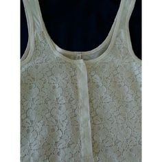 ♡♡♡SALE♡♡♡NWOT J. Crew Ivory Lace Tank Top ☆☆☆ SALE! Gorgeous J. Crew ivory tank top with a lace overlay on the front.  Has six hidden buttons down front of top. Make this sensational top one of your summer wardrobe staples. J. Crew Tops Tank Tops