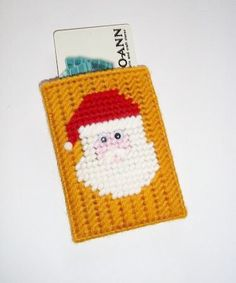 Santa Claus Gift Card Holder Gold background  by grannyscraftattic, $5.00