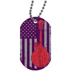 American F5 Mandolin Dog Tag