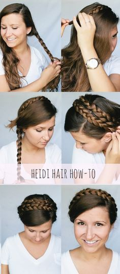 Crown Braids Updo- looks like Princess Leia in Return of the Jedi Evening Hairstyles, Pretty Hairstyles, Braided Hairstyles, Wedding Hairstyles, Princesa Leia, Hair And Beard Styles, Short Hair Styles, Looks Cool, Hair Dos