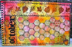 2012 art journal - Kathryn Wheel Calendar October (Marjie Kemper)