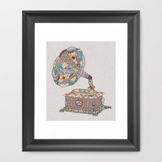 SEEING SOUND Framed Art Print by Bianca Green - $35.00