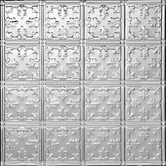 0605 Tin Ceiling Tile - Classic - MINI FLUER-DE-LIS - Tin Plated Steel Nail Up by Decorative Ceiling Tiles Inc.. $7.75. Our Tin Plated Steel Ceiling Tiles are perfect for Nail Up or Drop In applications in your Home or Business. This product must be primed and painted from both sides otherwise it will rust. The size is 2x2 and it weights about 2 pounds. It can be cut with tin snips.