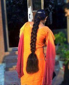 Beautiful long braids   indian braided hair   Flickr Loose Hairstyles, Indian Hairstyles, Braided Hairstyles, Cut My Hair, Long Hair Cuts, Long Hair Styles, Beautiful Braids, Beautiful Long Hair, Blonde Hair Black Girls