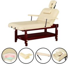 Master Massage 31-inch SpaMaster Stationary Massage Table, Brown