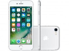 """iPhone 7 Apple 32GB Prateado 4G 4,7"""" Retina - Câm. 12MP + Selfie 7MP iOS 10 Proc. Chip A10"""