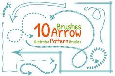 Arrow Pattern Brushes by Cattleya on @creativemarket