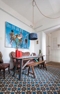 Un appartement atelier vintage