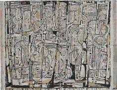 Ian FAIRWEATHER, Monastery Australian Painting, Australian Artists, Abstract Words, Abstract Art, Painting Collage, Paintings, Eastern Philosophy, Global Art, Muted Colors