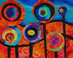 "From exhibit ""Hundertwasser Trees"" by Farah84 from Alum Creek Elementary School— grade 1, United States"