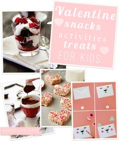 Valentine Round Up - snacks, activities and sweet treats for kids on @Katie Hrubec Goodman
