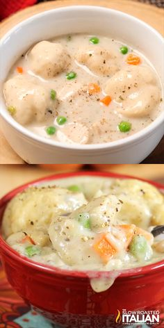 Chicken and Dumplings is a dish that goes from prep to plate in 30 minutes! A simple one-pot recipe that is packed with chicken, veggies and delicious dumplings, with no canned 'cream of whatever' soup needed. food recipes Chicken and Dumplings Cooker Recipes, Crockpot Recipes, Healthy Recipes, Casserole Recipes, Free Recipes, Simple Snack Recipes, Meat Recipes, Seafood Recipes, Chicken Dumpling Casserole