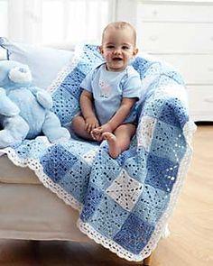 Gingham blanket on Ravelry