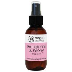 Frangipani Peony Refresher Spray by Angel Aromatics | Artificial Flower Spray - Frangipani Peony Fragrance. Made in Australia. The product link is http://www.angelaromatics.com.au/all/frangipani-peony-artificial-flower-spray