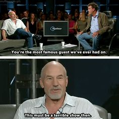 Patrick Stewart on Top Gear