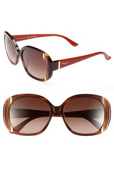 Salvatore Ferragamo 'Classic' 55mm Sunglasses available at #Nordstrom