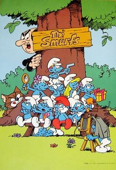The Smurfs! First, Gargamel wanted the smurfs to have a potion to turn iron to gold, then he wanted them to eat! What is that?!