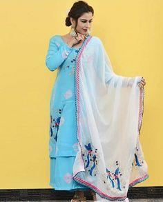 Punjabi Suit Boutique, Boutique Suits, Embroidery Neck Designs, Embroidery Suits, Suits Usa, Punjabi Girls, Designer Punjabi Suits, Amritsar, Chandigarh