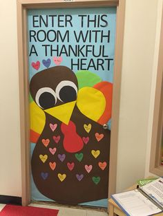 Our version of a Thanksgiving door decoration