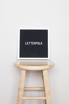 """Letterfolk 10"""" x 10"""" black felt letter board"""