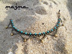 Anklet Sea&Sand macramè Turquoise by MagmaArtwork on Etsy, $26.10