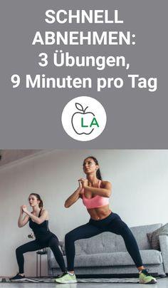 Wer schnell Fett verlieren will, muss sich gesund ernähren und Krafttraining machen. Hier findest du unseren Trainingsplan mit drei effektiven Übungen. #diät #gesundheit #abnehmen