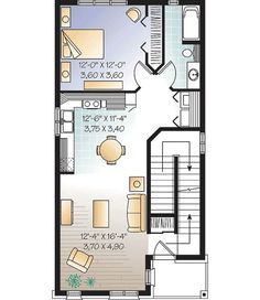 Plan Apartments with Potential Commercial Space Small Bathroom Floor Plans, Small Bathroom Sinks, Small House Floor Plans, Bathroom Tile Designs, Half Bathrooms, Modern Bathroom, Mini House Plans, Family House Plans, Commercial Building Plans
