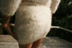Sexy Ladies 100 Angora Mini Skirt Sweater Stunning Soft Fuzzy Furry Fluffy | eBay