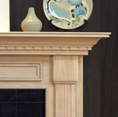 Harrisburg Standard Size Mantel is part of Living Room Plants Fireplace - The beautiful Harrisburg wood fireplace mantel surround has a classic colonial design with lots of details at an affordable price Fireplace Mantels For Sale, Fireplace Mantel Surrounds, Wood Fireplace Mantel, Wood Mantels, Marble Fireplaces, Fireplace Mantle, Fireplace Design, Mantles, Craftsman Fireplace