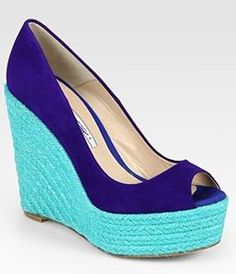 Loving espadrilles in bright color combinations for summer