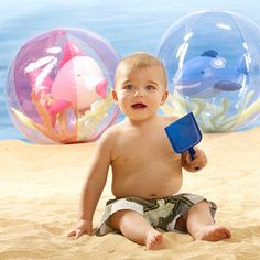 Beautiful beach balls? There is such a thing! We've found a great line with two different sizes.                 3 years+                 $12 to $19; pbkids.com