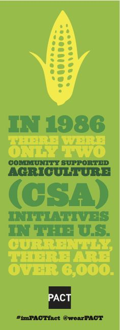 Community Supported Agriculture Initiatives are important...support local growers!