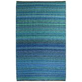 115  6x9  Found it at Wayfair - Turquoise & Moss Green Cancun Stripe Indoor/Outdoor Area Rug