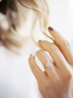 Simplistic emerald cut engagement ring: http://www.stylemepretty.com/2016/12/29/5-beauty-looks-to-steal-for-your-big-day/ Photography: Alexandra Elise - http://www.alexandraelisephotography.com/