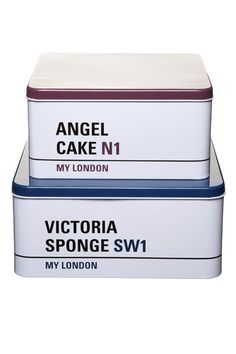 London Street Sign Cake Tins