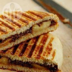 Your new favourite snack: Chocolate and banana panini. Use your favourite chocolate bar or a couple of spoonfuls of Nutella. Panini bliss!