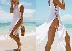 """We love bohemian beach"" - We Love Boho Sexy Outfits, Trendy Outfits, Summer Outfits, Bohemian Beach, Caftan Dress, Summer Scarves, Beachwear For Women, Beach Dresses, Swimsuits"