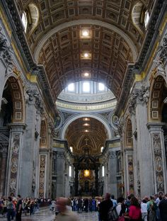 St. Peter's Basilica in Vatican City is built over the tomb of St. Peter the Apostle, and is the largest church in this tiny country. It's immense, the church covers an area of 5.7 acres and has over 60,000 people capacity.