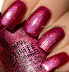 China Glaze Infra Red Holographic